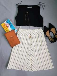 Striped Cream Skirt