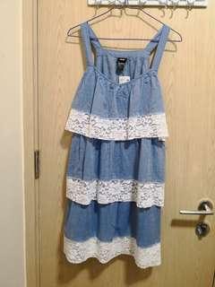全新H&M藍色連身裙