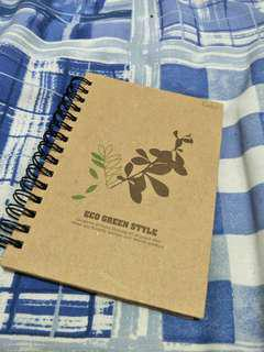 Small Eco green style notebook