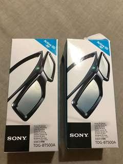 2 × NEW Original SONY Active 3D Glasses,Bravia TV-TDG-BT400A/500A-GENUINE