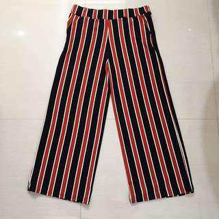 BLACK RED STRIPE CULLOTE KULOT