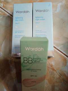 Wardah day dan night cream + BB cream