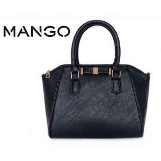 Mango Shell Ribbon Handbag Sling Bag