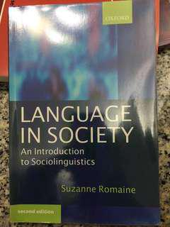 Language in Society (Suzanne Romaine)