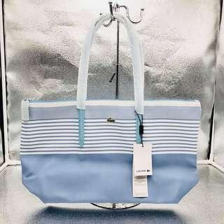 Lacoste White Stripes Tote Bag