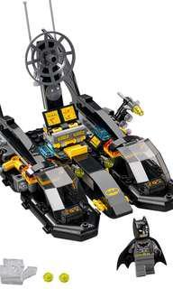 Incomplete - LEGO 76034 Batboat and Batman minifigure and Deathstroke Ski built