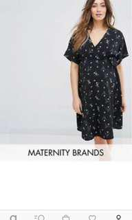ASOS Maternity Dress floral wrap (without tag)