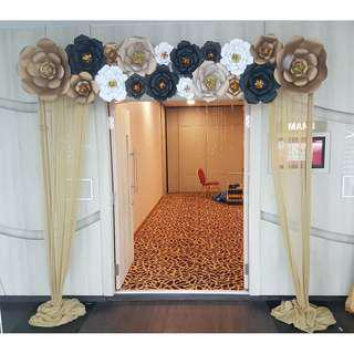 Arch / Birthday / ROM / Wedding Backdrop Setup / Props Rental Service / Mini Pelamin / Mini Dais / Bangle Ceremony / Engagement / Baby Shower Deco