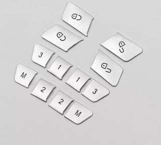 🚚 BENZ 賓士 解鎖 按鍵裝飾片 解鎖按記憶 按鈕 內飾改裝 W204 C250 C200 C300 C63 AMG