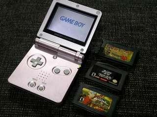 Metalic Pink Nintendo Gameboy Advance SP AGS - 001