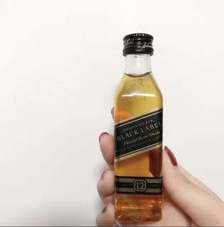 Johnnie Walker Black Label mini sample 迷你酒辨