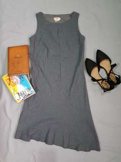 Asymmetrical Grey Dress
