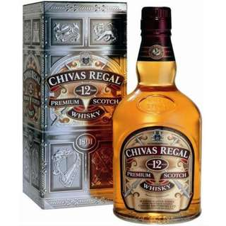 [With Box] Chivas Regal Blended Scotch Whisky 12 Years 1L.