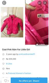 Reprice COAT for kids