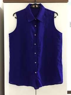 New plus size chiffon button down blouse