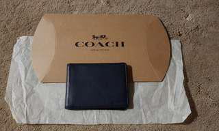 🚚 Authentic Coach card holder-Navy blue
