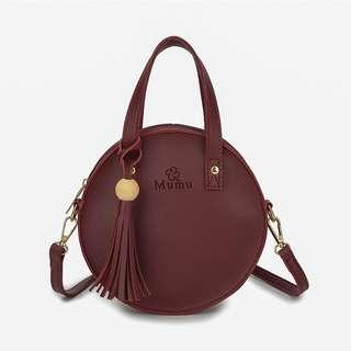 Tassel Round Sling Bag