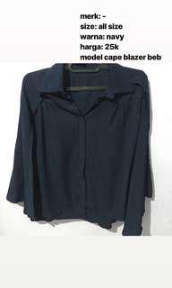 🌟 cape blazer navy