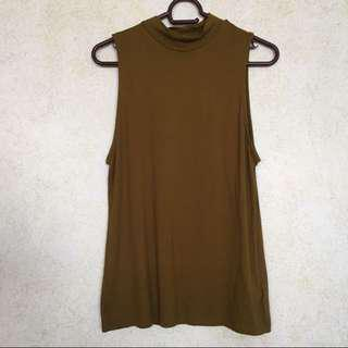 ♡ h&m brown mockneck top ♡