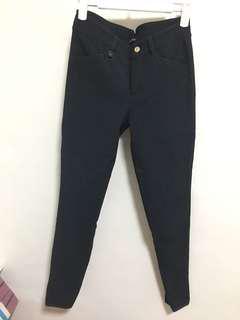 Massimo Dutti navy stretchy skinny jeans 彈性貼身牛仔褲