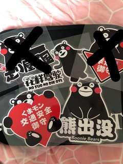 熊本系列 包郵$25張 $100-5張 型 酷 潮 靚紙質 反光車貼 行李箱貼