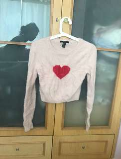 Forever 21 🇺🇸 pink heart ❤️ patterned long sleeves