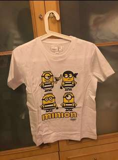 Chocolate 🍫 crossover minion 小黃人白色 white t-shirt