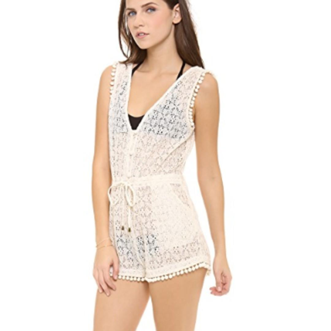 6 Shore Road - Lazy Sunday's Lace Romper/playsuit - size XS