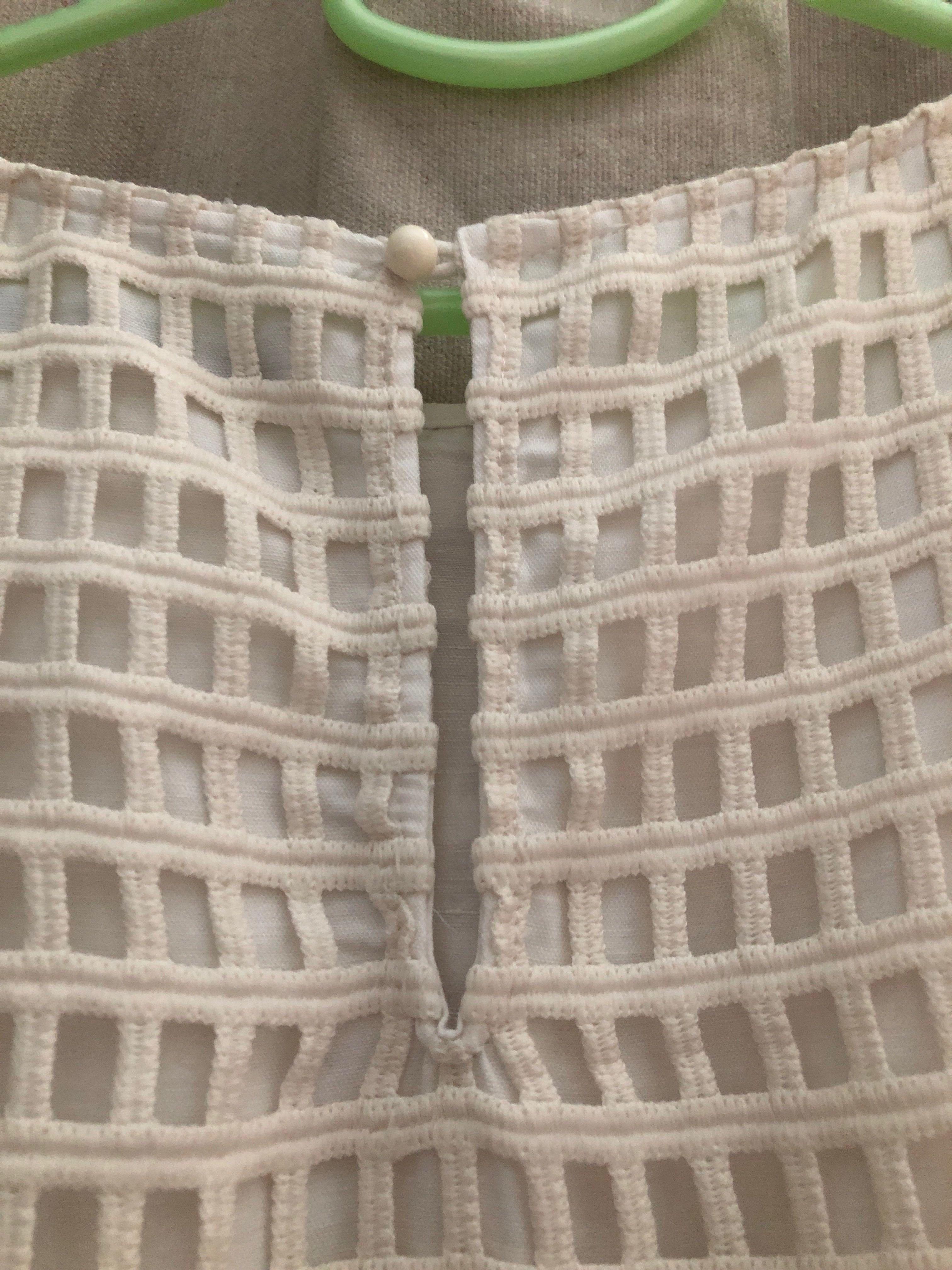 日本品牌米白色連身裙