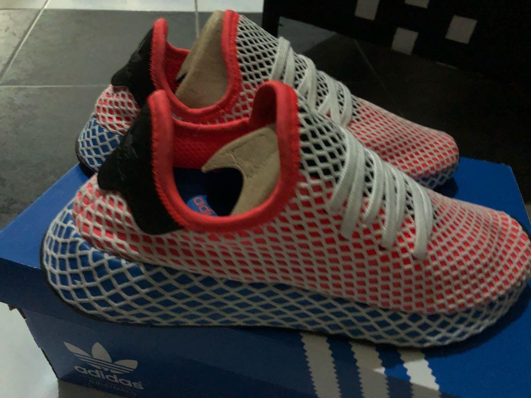 06fd307e28d42 Adidas Deerupt Neon Red Blue