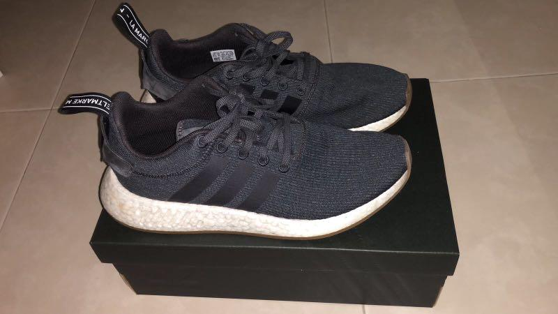 Adidas NMD R2 Grey Five & Core Black, Men's Fashion, Footwear ...