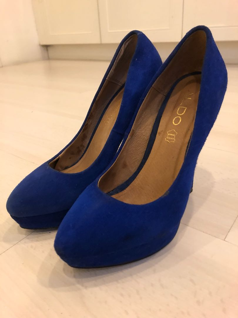 42090e60fee Aldo suede royal blue pumps