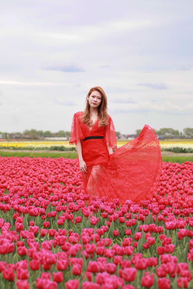 Alice McCall Red Lace Maxi Dress