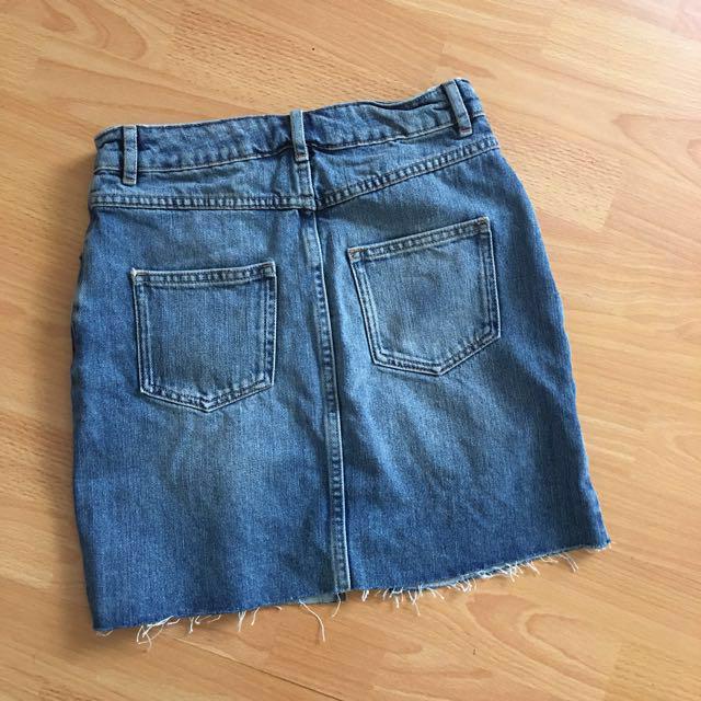 ASOS blue denim skirt