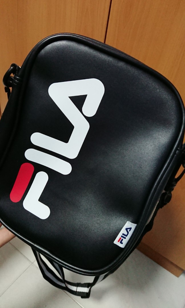 1f4a27dd8fb Authentic Fila Black Leather Sling Bag, Women's Fashion, Bags & Wallets,  Sling Bags on Carousell