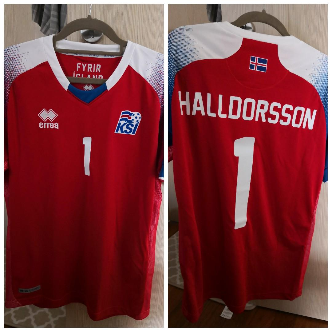 innovative design dc50b 2955a Authentic Iceland Goalkeeper jersey (with nameset printing ...