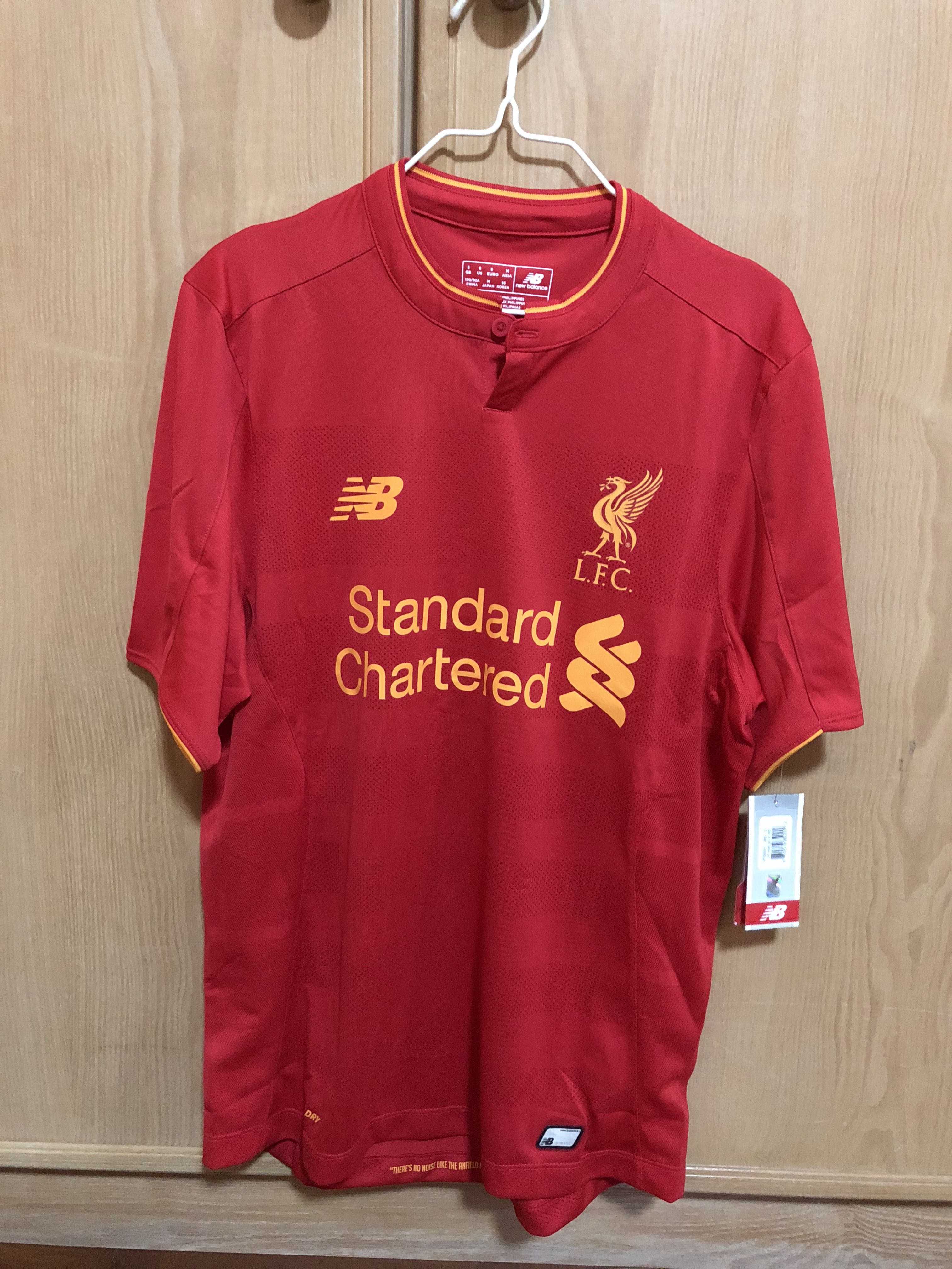 buy popular 54c94 fc9f3 Authentic NB Liverpool Jersey, Sports, Sports Apparel on ...