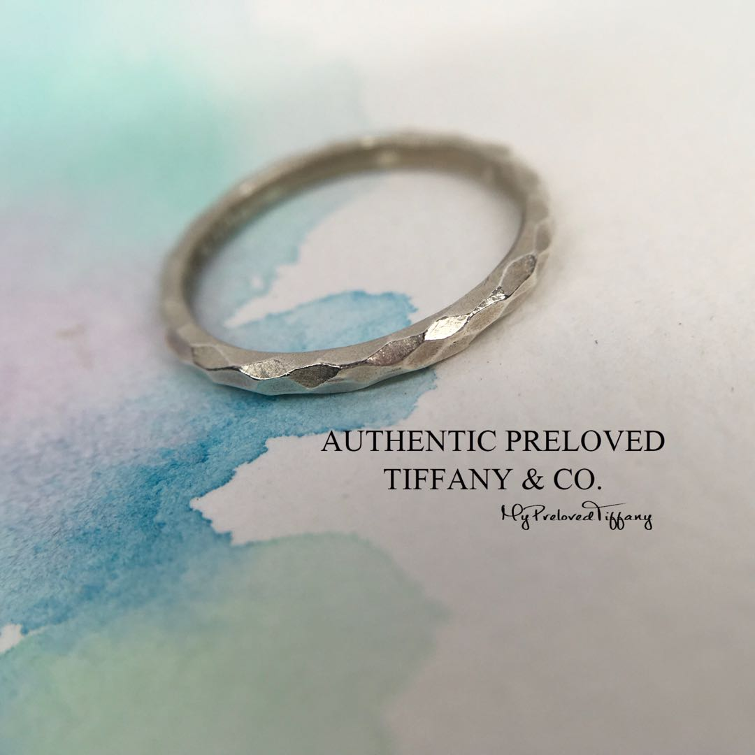 cecd2ece2 Authentic Tiffany & Co. Paloma Picasso Hammered Silver Ring #5.5 ...