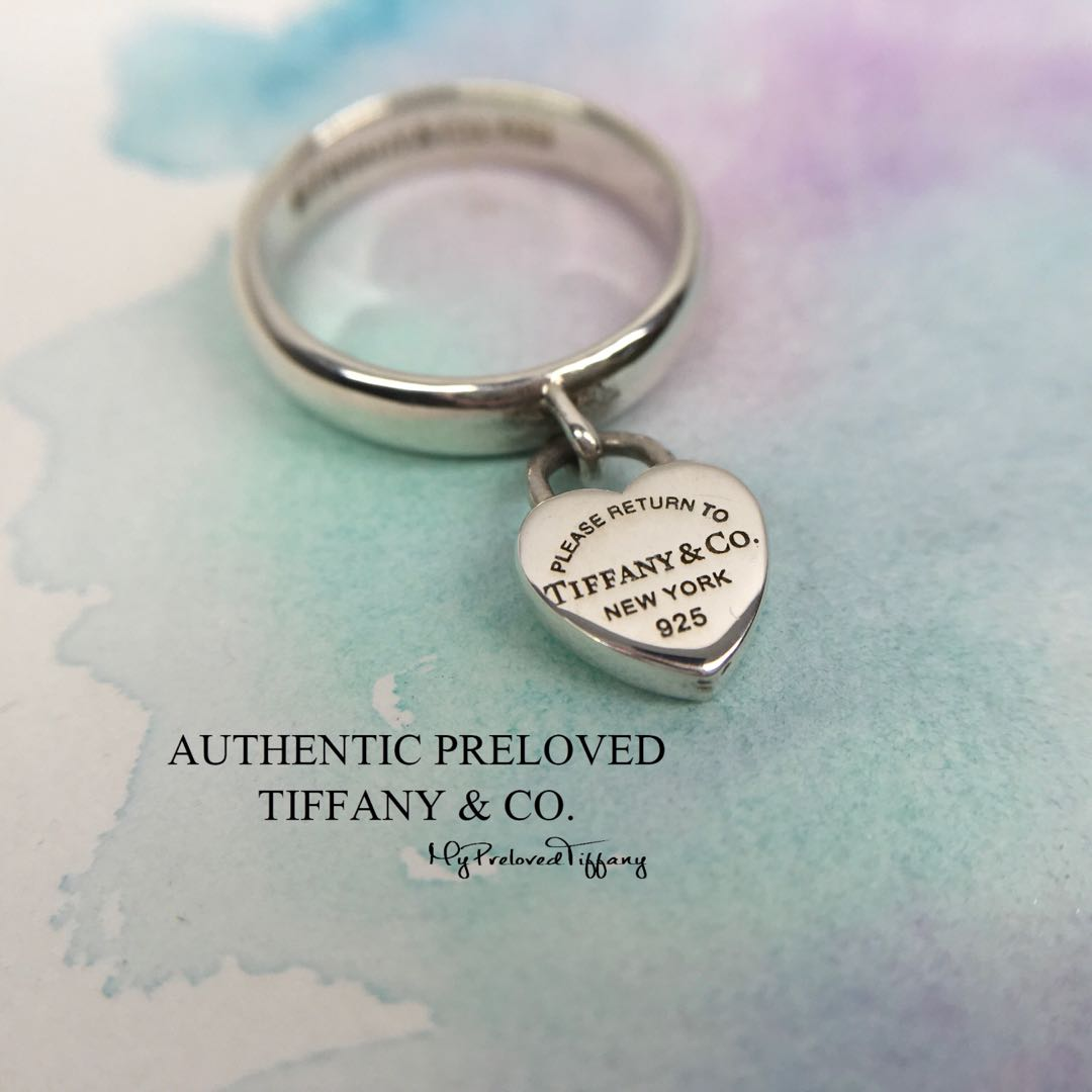 a45dc7fb4 Authentic Tiffany & Co Return To Tiffany Heart Tag Dangling Charm ...