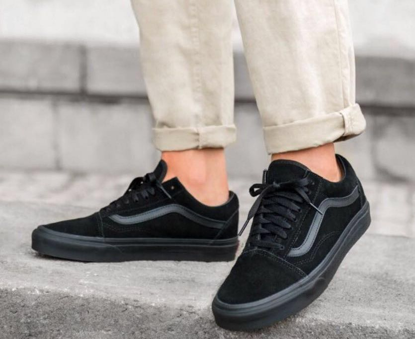 868f4657a3 authentic vans old skool triple black