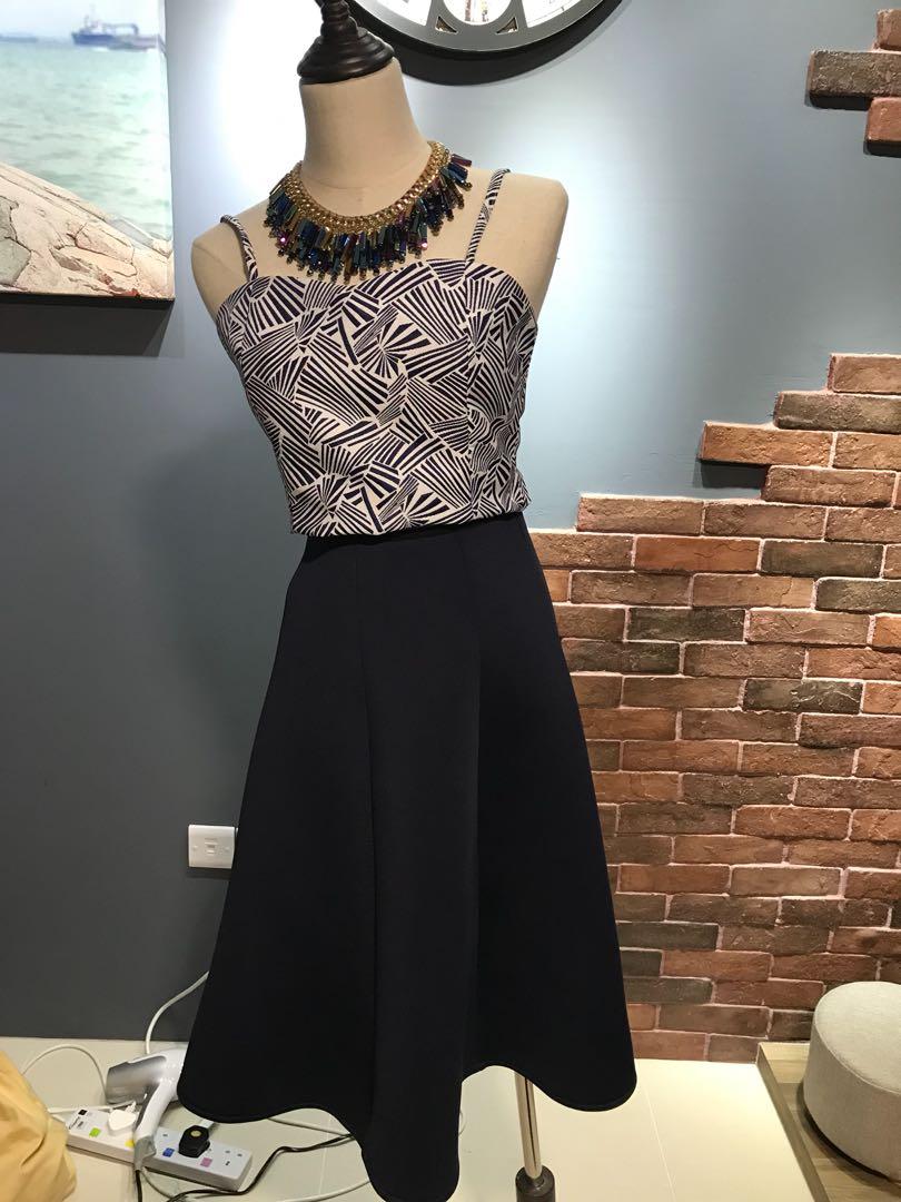 712ab5ad7 Blue scuba material midi skirt, Women's Fashion, Clothes, Dresses ...