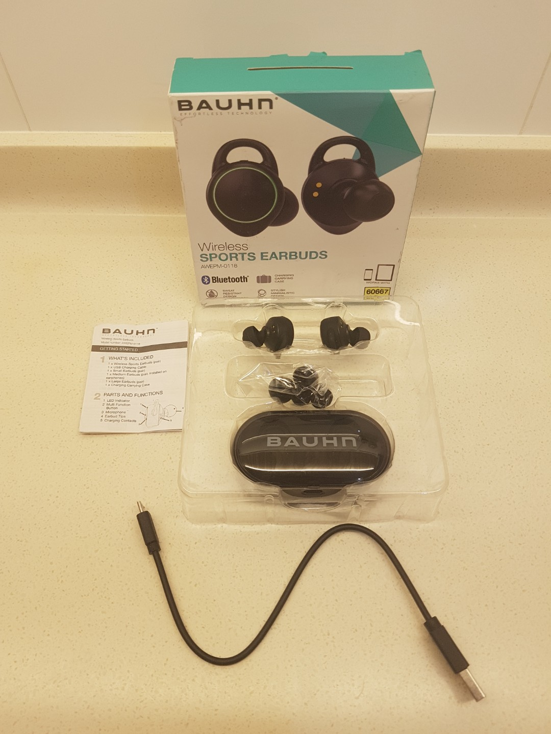 05cbac13e39 Bauhn Wireless Bluetooth Sports Earbuds / Headphone (Model: AWEPM-0118)  ----> From Australia, Electronics, Audio on Carousell