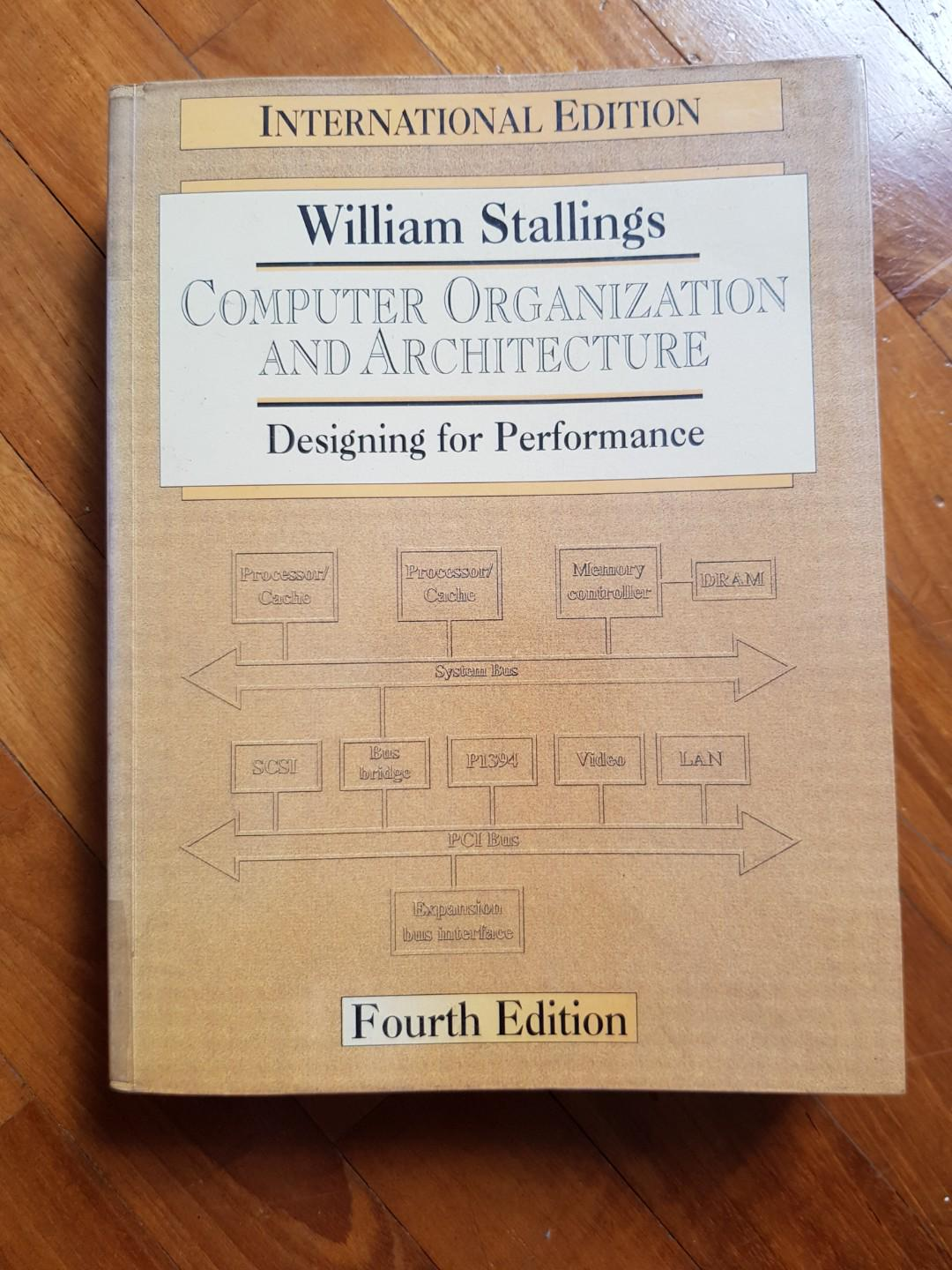 Computer Organization And Architecture Design For Performance Books Stationery Textbooks Tertiary On Carousell
