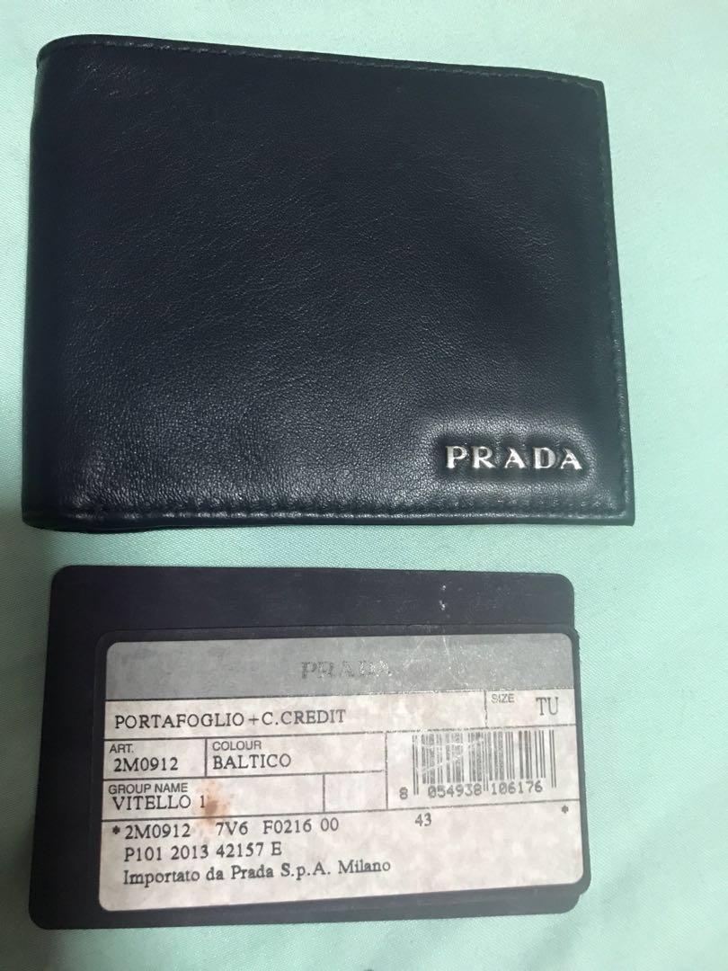 0a8f63ee53 Dark blue Prada Man's wallet, Men's Fashion, Bags & Wallets, Wallets ...