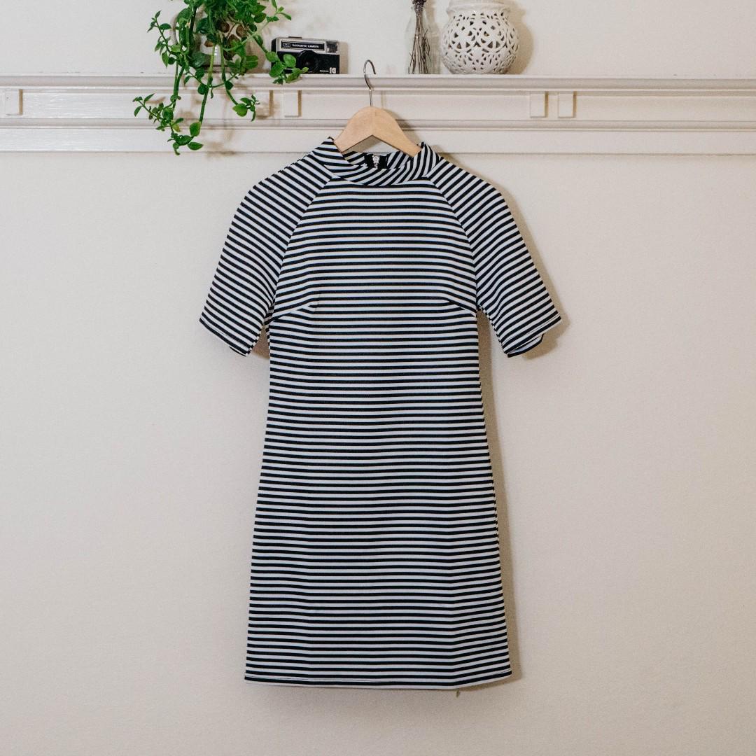 Glamorous Striped Shift Dress NEW