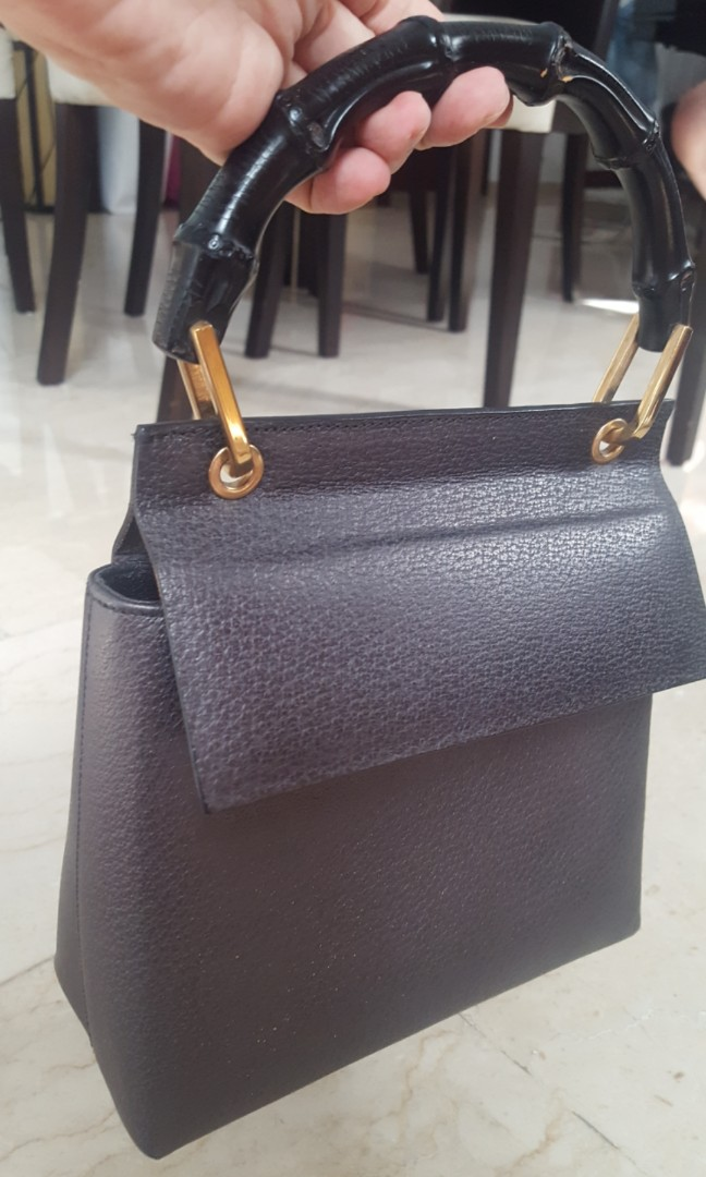 4fac315db08 Gucci vintage bamboo top handle mini bag