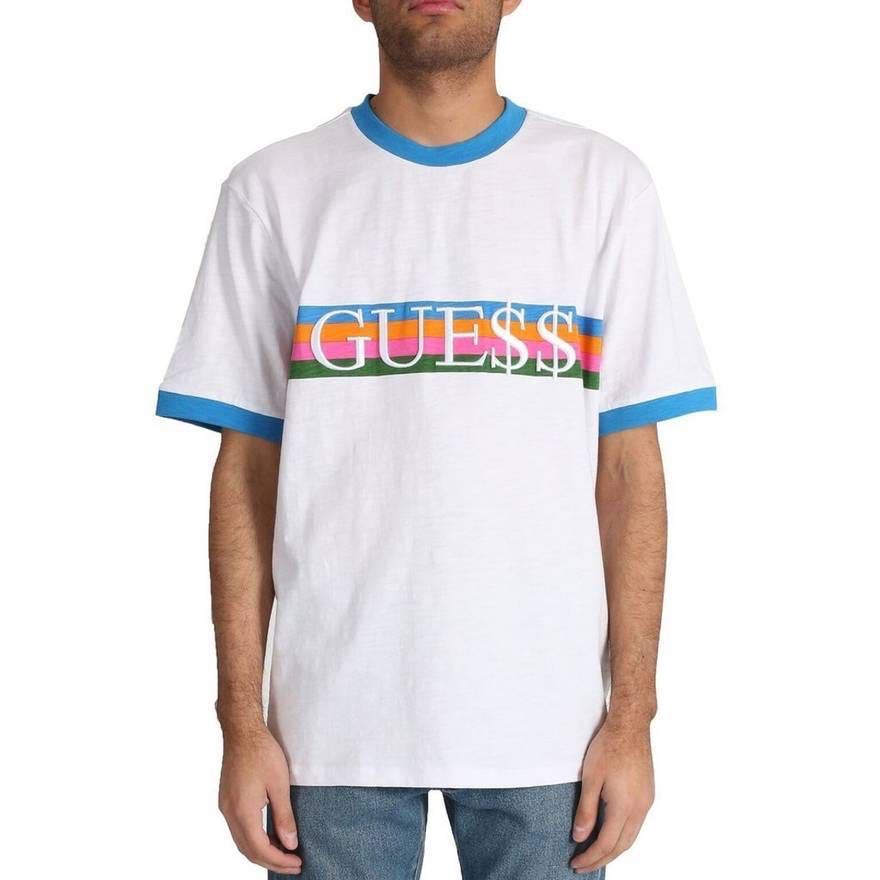 7a893c5716f7 guess x asap ringer tee, Men's Fashion, Clothes, Tops on Carousell