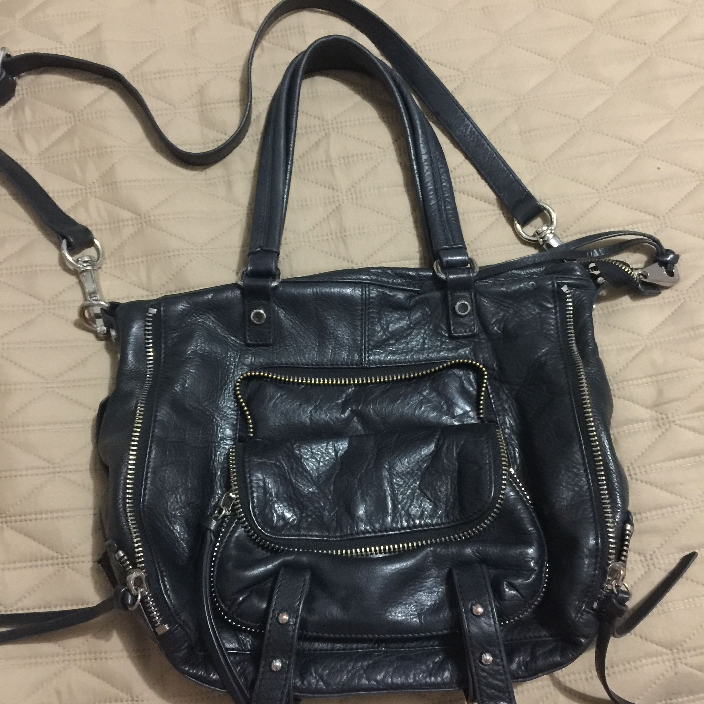 Joelle Hawkens Black Leather Bag Women S Fashion Bags Wallets On Carou