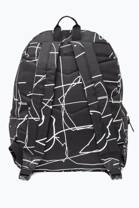 Just Hype Black Scribble Backpack