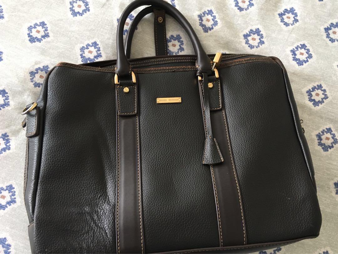 Brooks Brothers Dark Brown Leather Bag